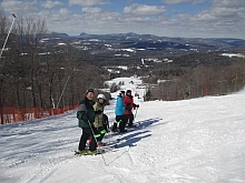 Picture of skiers at Burke Mountain
