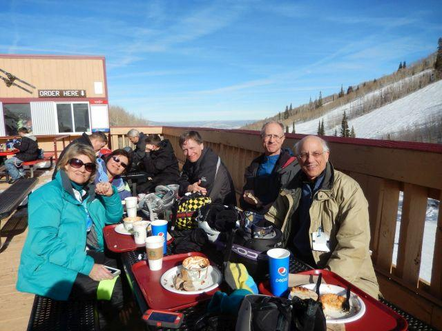 Lunch break at Park City